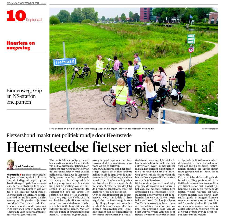Haarlems Dagblad 10-9-2014