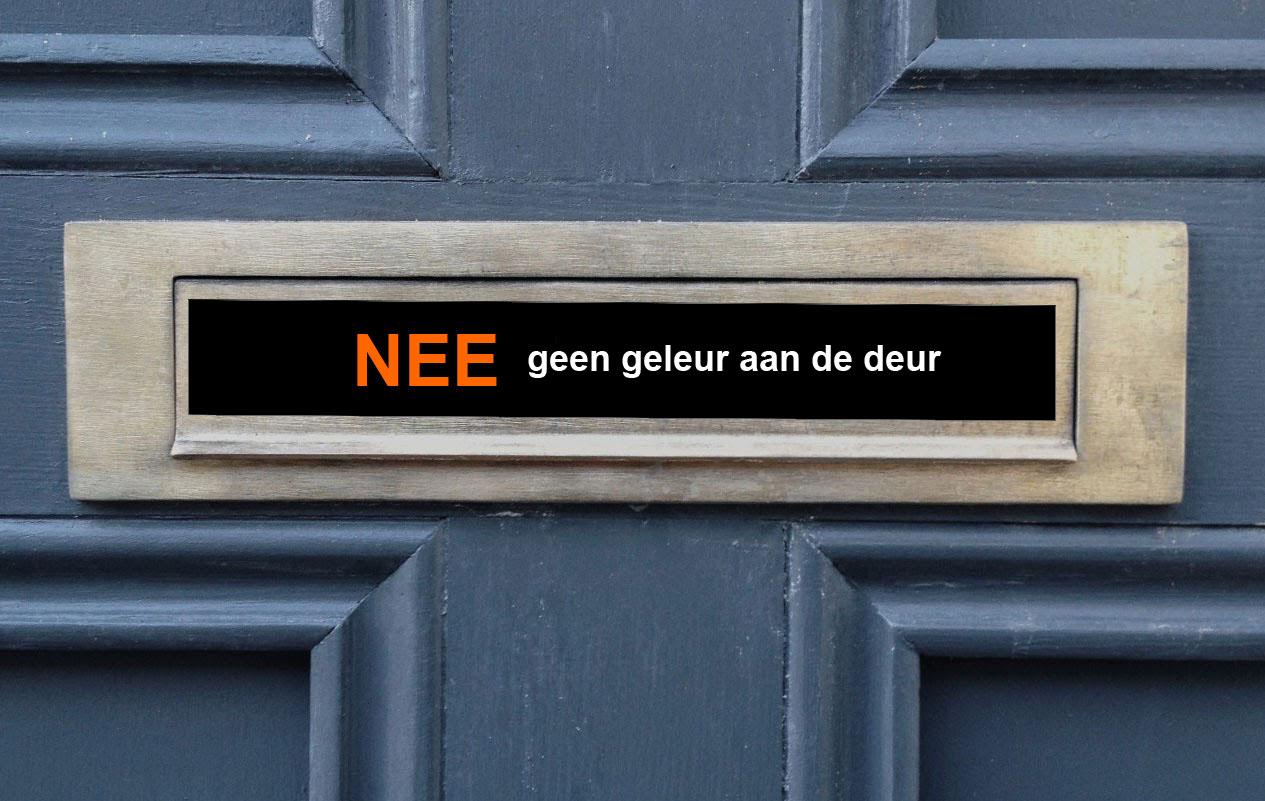 geleur aan de deur