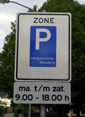 parkeervergunningbord