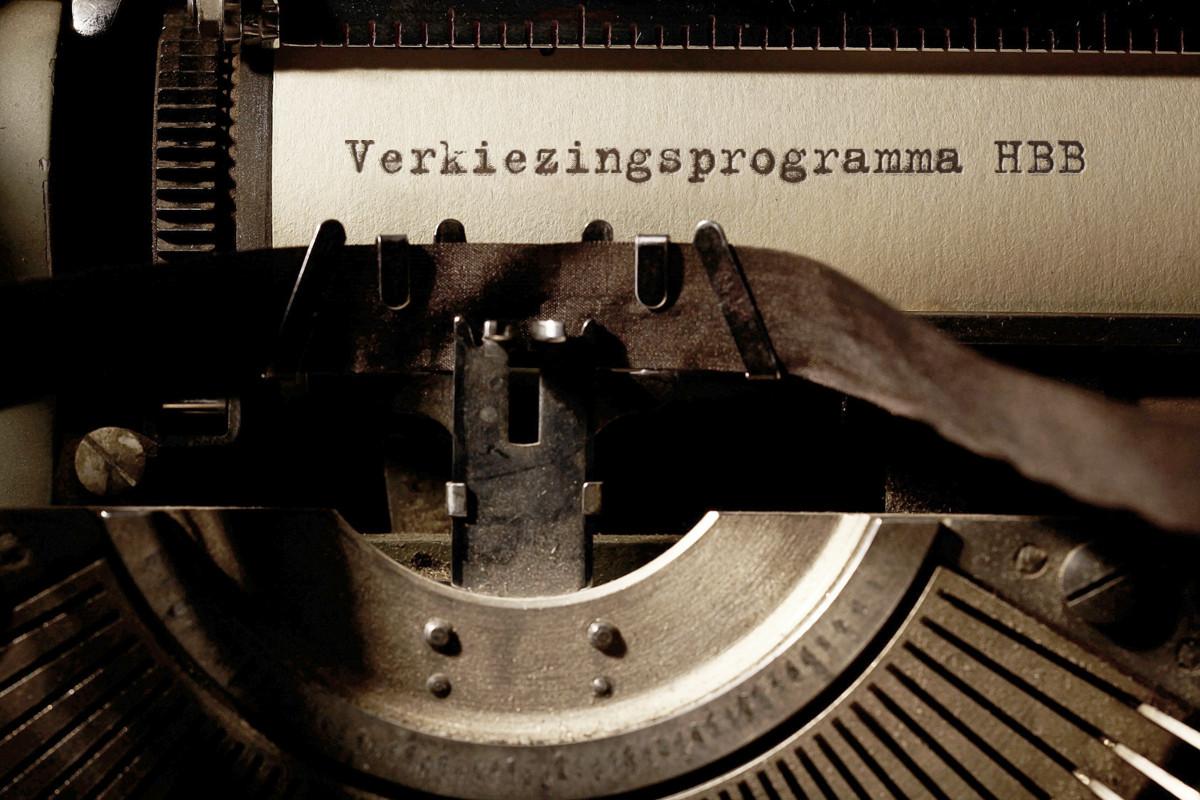 typmachine verkiezingsprogramma